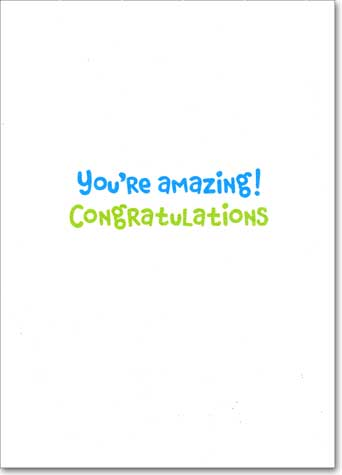 Medals (1 card/1 envelope) Avanti A*Press Congratulations Card - FRONT: #1 ALL STAR  INSIDE: You're amazing! Congratulations