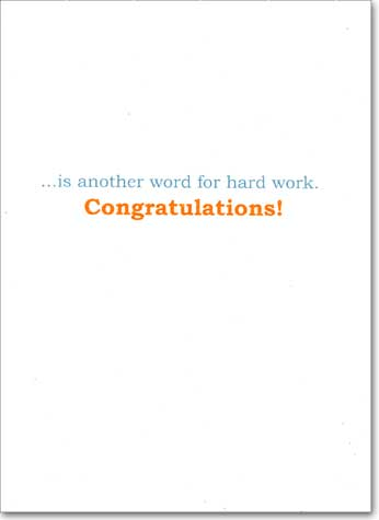 Horse Shoe (1 card/1 envelope) Avanti A*Press Congratulations Card - FRONT: LUCKY  INSIDE: is another word for hard work. Congratulations!