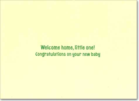 Welcome Mat (1 card/1 envelope) Avanti A*Press New Baby Card - FRONT: WELCOME  INSIDE: Welcome home, little one! Congratulations on your new baby