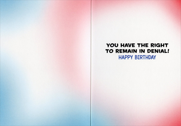 Baby Officer (1 card/1 envelope) Avanti Funny Birthday Card  INSIDE: You have the right to remain in denial! Happy Birthday
