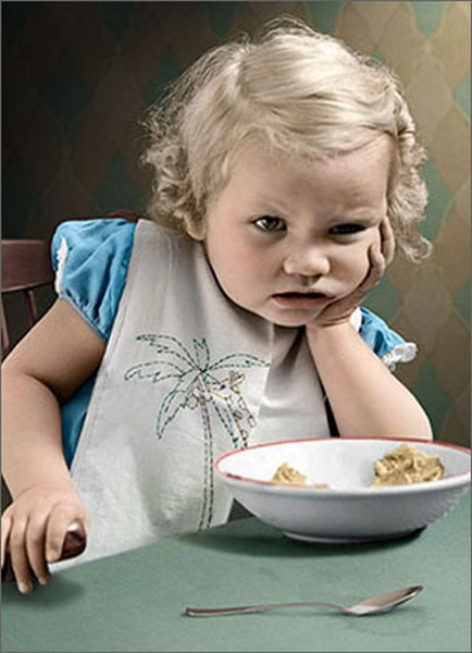 Cranky Cereal Baby (1 card/1 envelope) Avanti Funny Birthday Card  INSIDE: Some 'terrible twos' last longer than others! Happy Birthday