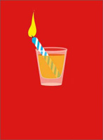 Birthday Candle Shot Glass (1 card/1 envelope) - Birthday Card