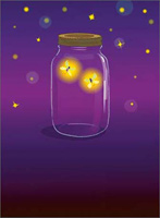 Firefly Jar (1 card/1 envelope) Avanti A*Press Anniversary Card