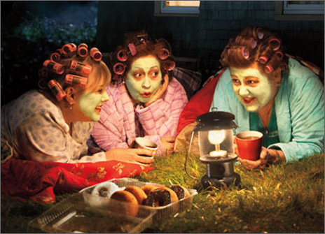 Three Women Camping (1 card/1 envelope) Avanti Funny Birthday Card  INSIDE: Time for a girl's night out! Happy Birthday