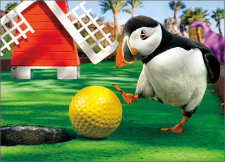 Putt Putt Puffin (1 card/1 envelope) - Birthday Card  INSIDE: Play like no one's watching! Happy Birthday