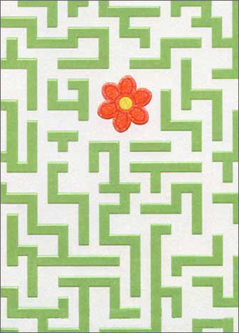 Maze (1 card/1 envelope) Avanti A*Press Support Card  INSIDE: You'll find a way through this�