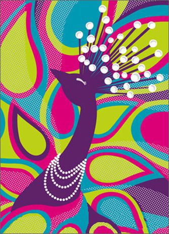 Funky Peacock (1 card/1 envelope) Avanti A*Press Birthday Card  INSIDE: Nobody does it like you� Nobody! Happy Birthday