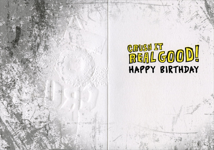 Big Truck (1 card/1 envelope) Avanti A*Press Birthday Card - FRONT: Crush it!  INSIDE: Crush it real good! Happy Birthday