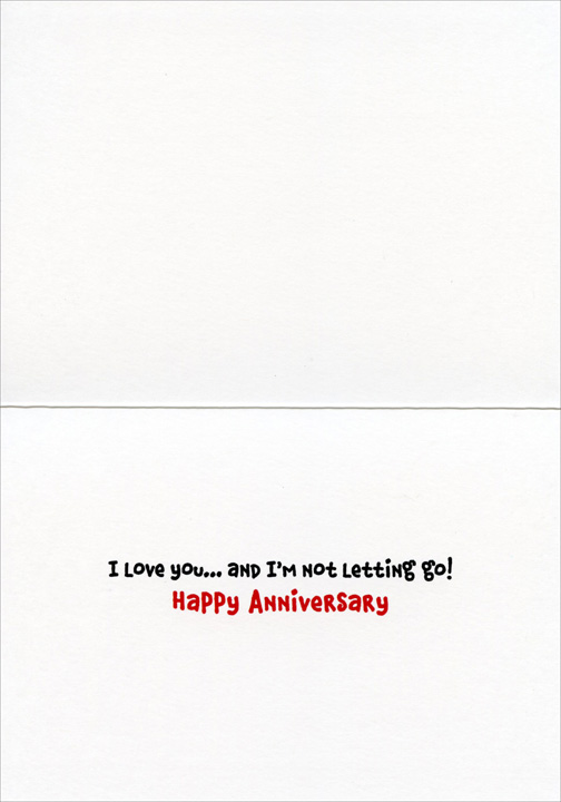 2 Dogs On Beach (1 card/1 envelope) Avanti Funny Anniversary Card  INSIDE: I love you� and I'm not letting go! Happy Anniversary