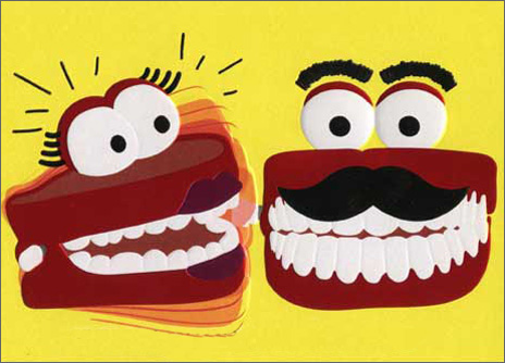 Chattering Teeth Couple (1 card/1 envelope) Avanti A*Press Anniversary Card  INSIDE: Communication is everything! Happy Anniversary