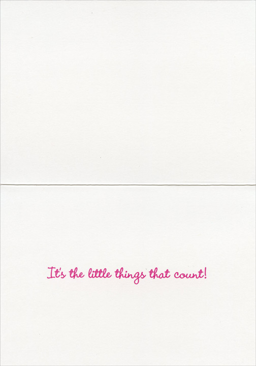 Little Girl Sees Flower (1 card/1 envelope) Avanti Encouragement Card  INSIDE: It's the little things that count!