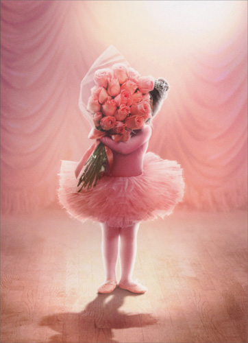 little girl ballerina congratulations card greeting card by avanti