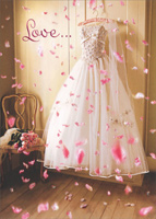 Wedding Dress with Flowers (1 card/1 envelope) Avanti Premium Bridal Shower Card