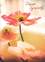 Three Pink Poppies (1 card/1 envelope) Avanti Premium Sympathy Card