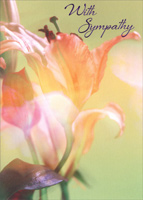 Pink Lily (1 card/1 envelope) - Sympathy Card - FRONT: With Sympathy  INSIDE: Wishing you comfort in this time of sorrow.