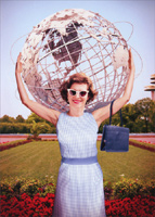 Woman Holds Globe (1 card/1 envelope) Avanti Funny Birthday Card