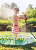 Boy With Hose (1 card/1 envelope) Avanti Funny Birthday Card