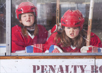 Tough Girls in Penalty Box (1 card/1 envelope) Avanti Funny Hockey Birthday Card