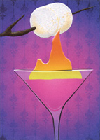 Marshmallow Cocktail Toast (1 card/1 envelope) Avanti A*Press Birthday Card