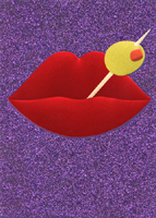 Martini Olive Lips (1 card/1 envelope) Avanti A*Press Birthday Card