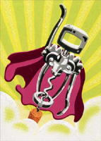 Wine Cork Super Hero (1 card/1 envelope) Avanti A*Press Birthday Card