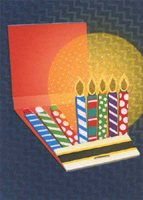 Birthday Candle Matchbook (1 card/1 envelope) - Birthday Card  INSIDE: Light 'em up! Happy Birthday
