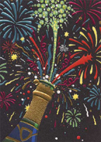 Champagne Fireworks (1 card/1 envelope) Avanti A*Press Birthday Card