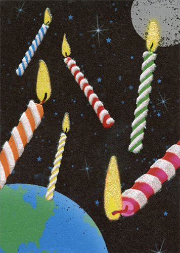 Birthday Candles In Outer Space Apress Funny Birthday Card By Avanti