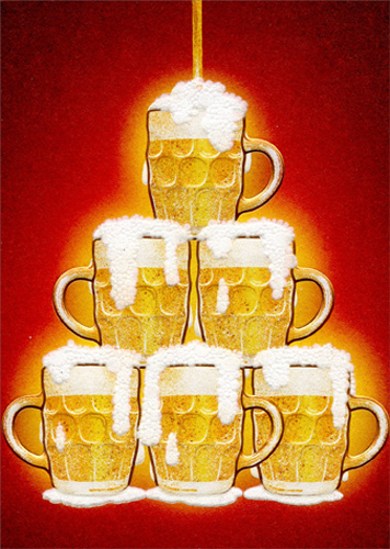 Fountain Of Beer APress Funny Masculine Birthday Card By Avanti