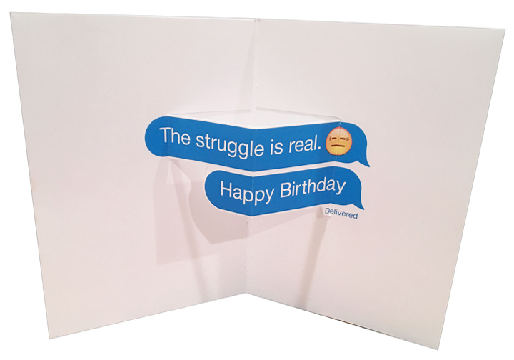Birthday Cards Delivered ~ Avanti cat on toilet standout pop up funny birthday card