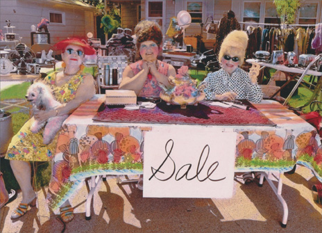 Yard Sale Ladies (1 card/1 envelope) Funny Birthday Card - FRONT: Sale  INSIDE: You're priceless! Happy Birthday
