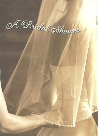 Wedding Veil (1 card/1 envelope) Bridal Shower Card - FRONT: A Bridal Shower..  INSIDE: best wishes for a lifetime of love.