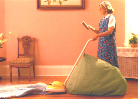 Woman Vacuuming (1 card/1 envelope) Mother's Day Card - FRONT: No Text  INSIDE: You leave the other Moms in the Dust!  Happy Mother's Day