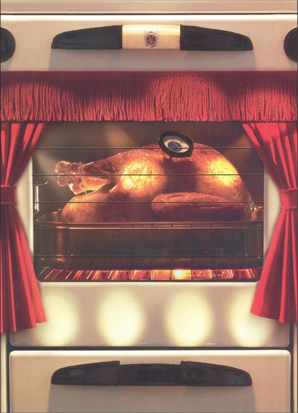 Turkey in Oven (1 card/1 envelope) Thanksgiving Card - FRONT: No text  INSIDE: Enjoy the disappearing act!  Happy Thanksgiving