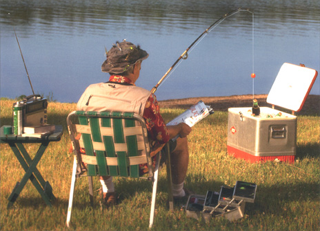 Dad Cooler Fishing (1 card/1 envelope) Father's Day Card - FRONT: No Text  INSIDE: I like to way you think!  Happy Father's Day