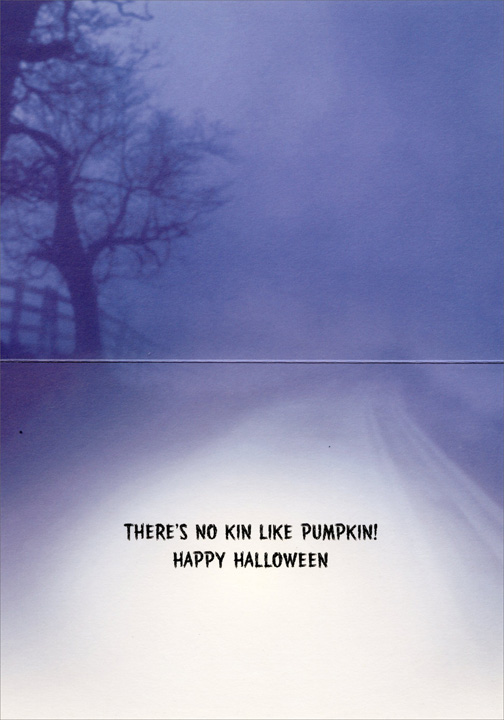 Jack-O-Lanterns Driving (1 card/1 envelope) Halloween Card - FRONT: No Text  INSIDE: There's no kin like pumpkin! Happy Halloween