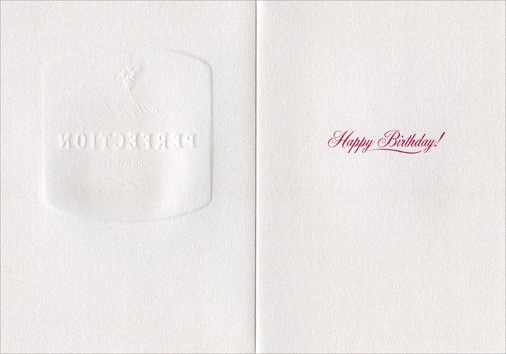 Aged (1 card/1 envelope) Birthday Card - FRONT: Aged to Perfection  INSIDE: Happy Birthday!