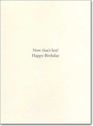 Cupcake Tattoo (1 card/1 envelope) - Birthday Card - FRONT: Happy Birthday  INSIDE: Now that's hot! Happy Birthday!