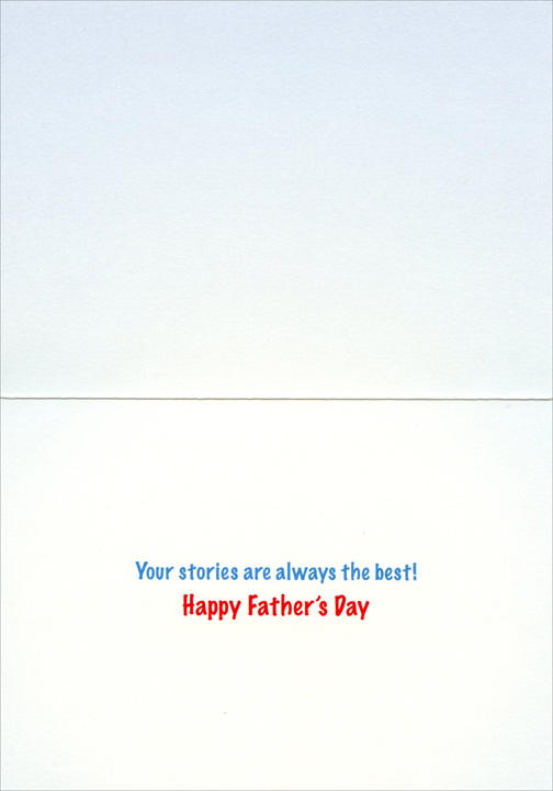 Grizzly Bear with Big Fish (1 card/1 envelope) Avanti Father's Day Card - FRONT: No Text  INSIDE: Your stories are always the best! Happy Father's Day