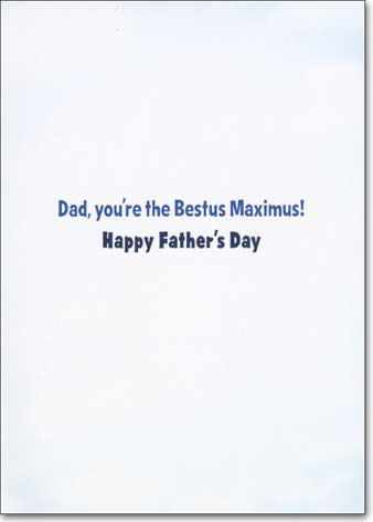 Roman Bulldog On Pedestal (1 card/1 envelope) Avanti Father's Day Card - FRONT: No Text  INSIDE: Dad, you're the Bestus Maximus! Happy Father's Day