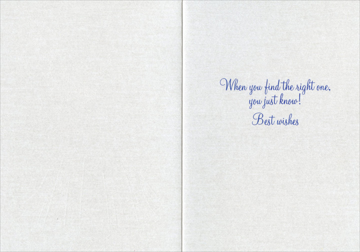 Magical (1 card/1 envelope) Avanti Press Bridal Shower Card - FRONT: Magical  INSIDE: When you find the right one, you just know! Best wishes
