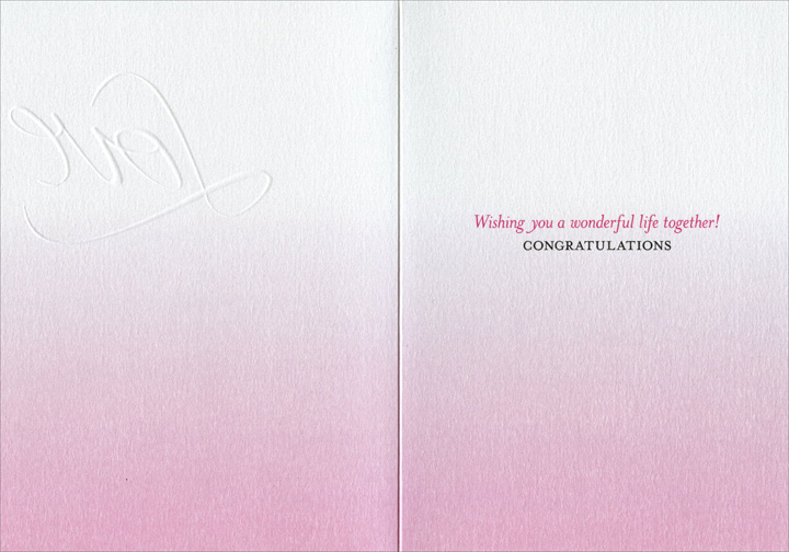 Dancing Silhouette Couple (1 card/1 envelope) Avanti Press Wedding Card - FRONT: Love  INSIDE: Wishing you a wonderful life together!  Congratulations