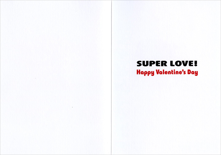 Dog in Streetscape - Valentine's Day Card - FRONT: No Text  INSIDE: Super love! Happy Valentine's Day