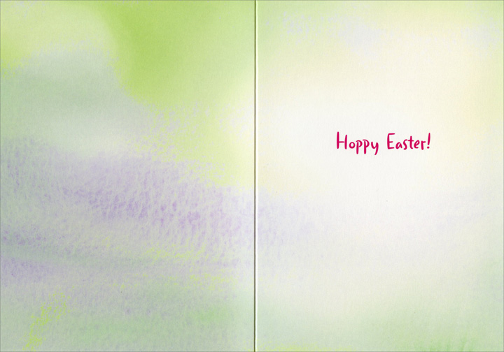 Bunny in Easter Egg Avanti Easter Card - FRONT: No Text  INSIDE: Hoppy Easter!