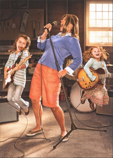 Mom with Girl Band - Mother's Day Card - FRONT: No Text  INSIDE: Every family needs its rock! Happy Mother's Day