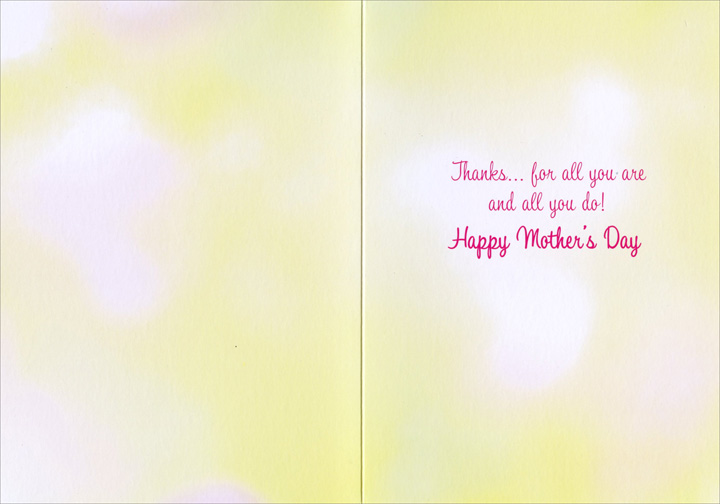 Bike with Flowers - Mother's Day Card - FRONT: No Text  INSIDE: Thanks... for all you are and all you do! Happy Mother's Day