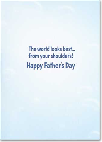 Father & Child Sea Turtles Avanti Father's Day Card - FRONT: No Text  INSIDE: The world looks best... from your shoulders! Happy Father's Day