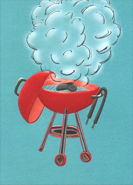 Smokin' Grill (1 card/1 envelope) Avanti A*Press Birthday Card - FRONT: No Text  INSIDE: You're a legend in your own backyard! Happy Birthday