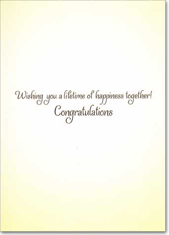 Hippie Bridal Couple (1 card/1 envelope) Avanti Funny Wedding Card - FRONT: No text  INSIDE: Wishing you a lifetime of happiness together! Congratulations