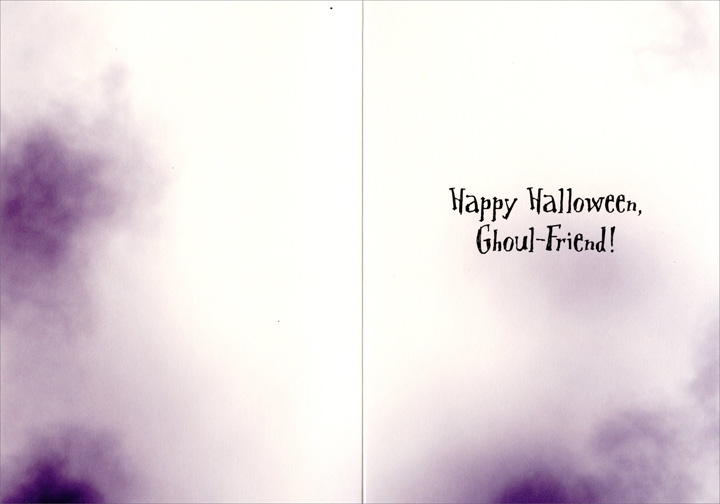 Halloween Princess (1 card/1 envelope) Avanti Funny Halloween Card - FRONT: No text  INSIDE: Happy Halloween,  Ghoul-Friend!